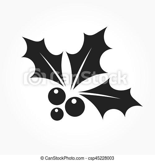 El ícono de Navidad de Holly - csp45228003