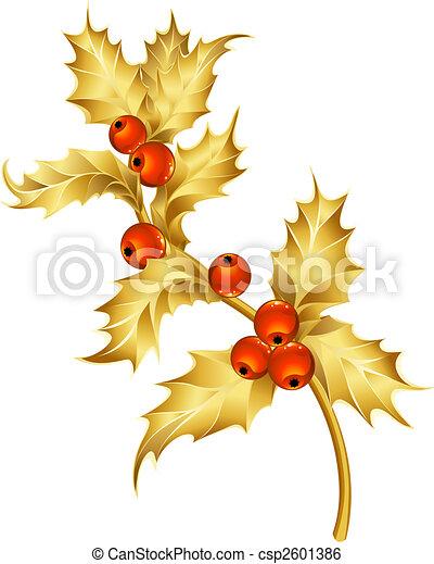 Gold Holly - csp2601386