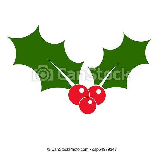 Holly vector de icono - csp54979347
