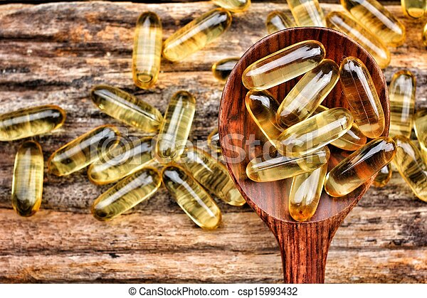 Cápsulas de aceite de bacalao - csp15993432