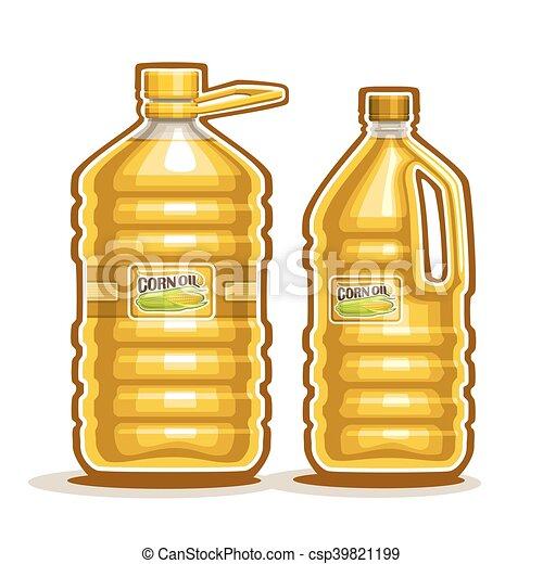 Grficos vectoriales EPS de aceite de maz botellas  Vector