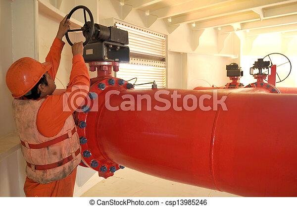 aceite, gas, trabajador, plataformas, transferencia, duyty - csp13985246