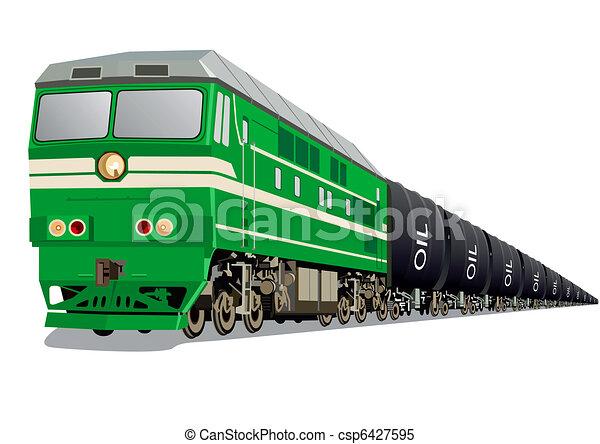 Locomotora con aceite - csp6427595