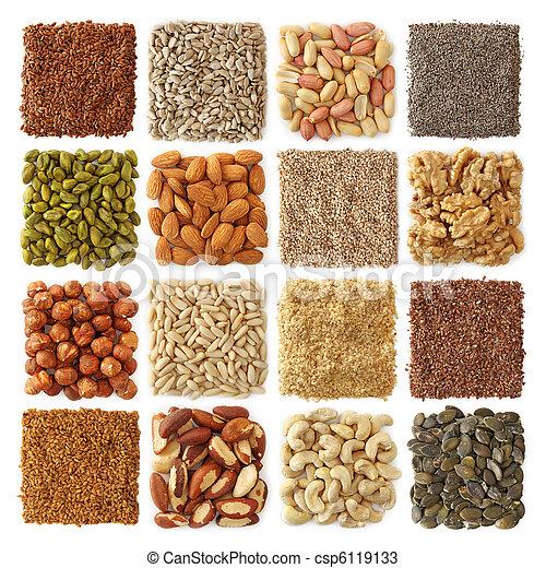 aceite, nueces, semillas - csp6119133