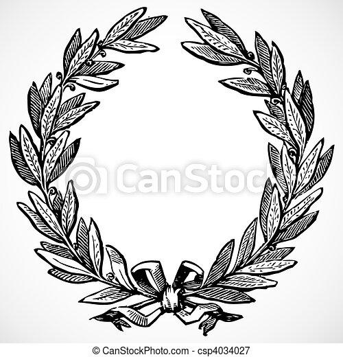 La corona de oliva Vector - csp4034027