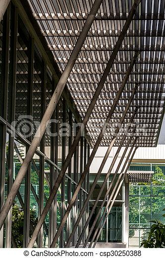 Acero, edificio, /, techo, braguero, estructura. Acero, moderno ...