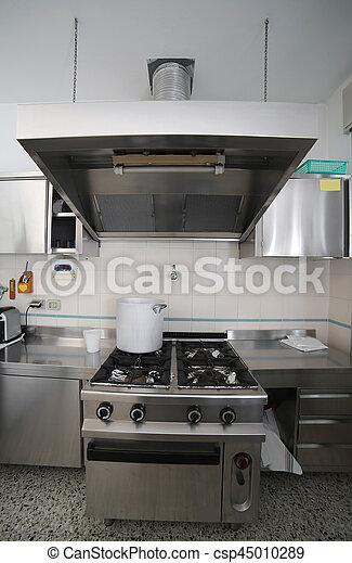 acero, industrial, aluminio, olla, th, muebles, cocina