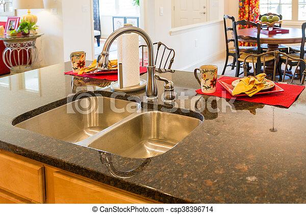 Acero inoxidable mueble empotrado fregadero cocina - Fregaderos de granito para cocina ...