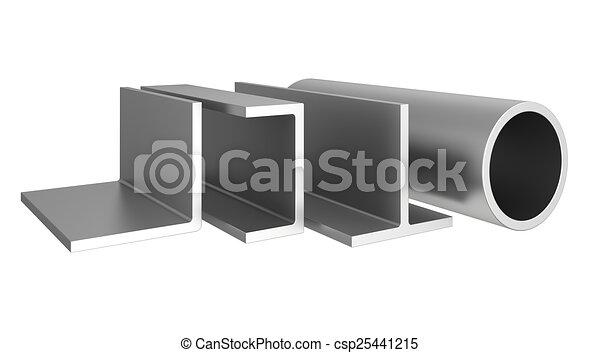 Acero inoxidable tubos perfiles plano de fondo blanco - Perfil acero inoxidable precio ...