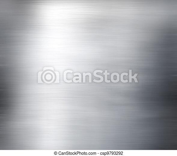 Metal placa de acero fondo. Hola, textura - csp9793292