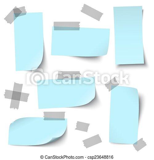 acessórios, vazio, papeis - csp23648816