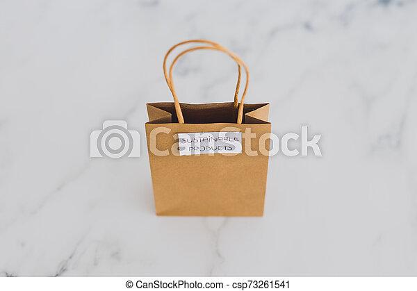 achat, achats, sourced, concept, articles, moralement, étiquettes, sac, produits, eco-amical, soutenable, intentional - csp73261541