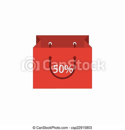 achats, moderne, arrière-plan., vecteur, blanc, icône - csp22915803
