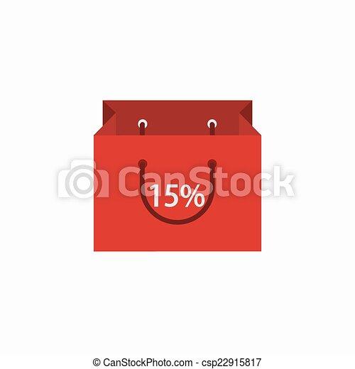achats, moderne, arrière-plan., vecteur, blanc, icône - csp22915817