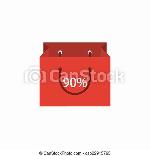 achats, moderne, arrière-plan., vecteur, blanc, icône - csp22915765