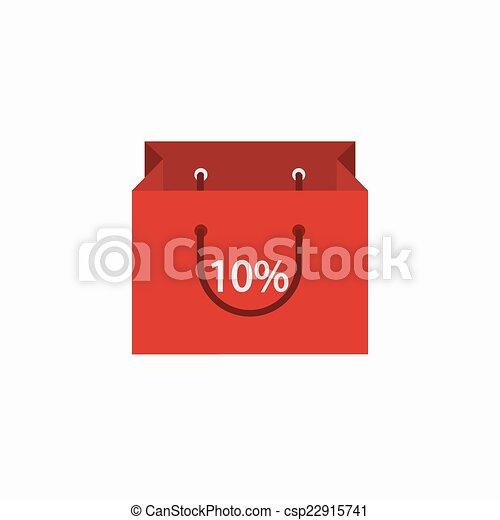 achats, moderne, arrière-plan., vecteur, blanc, icône - csp22915741