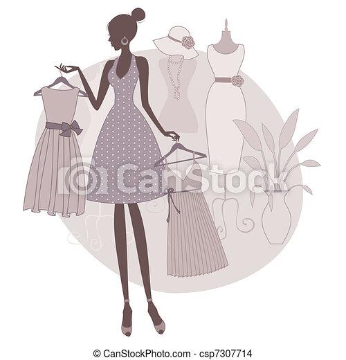 achats, robe - csp7307714