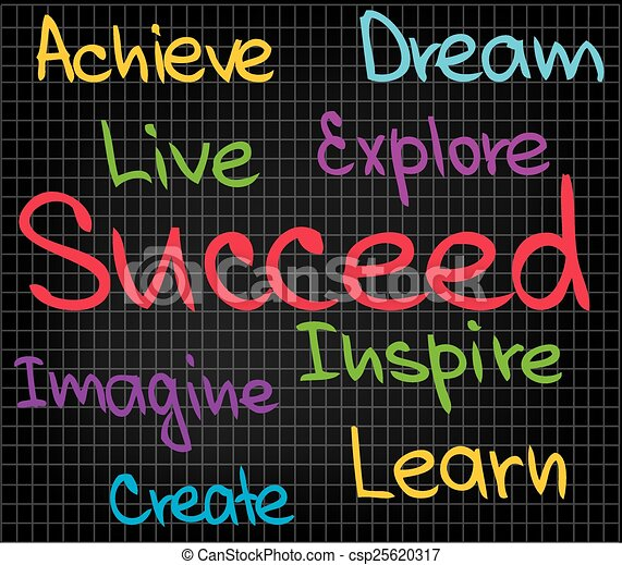 Achieve Succeed - csp25620317