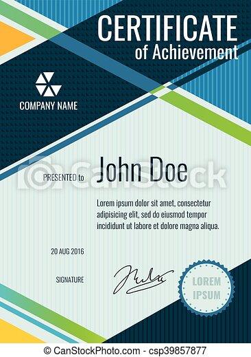Achievement award vector certificate design personal vectors achievement award vector certificate design yadclub Images