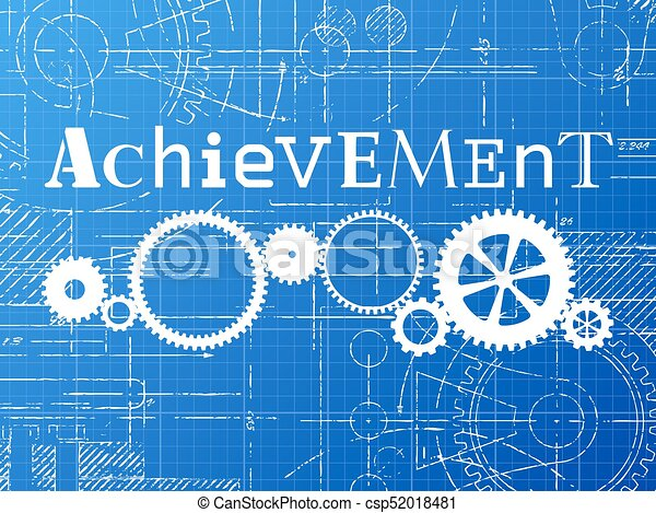 Achievement blueprint tech drawing achievement sign and vector achievement blueprint tech drawing csp52018481 malvernweather Choice Image