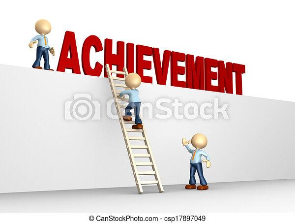 Achievement concept  - csp17897049