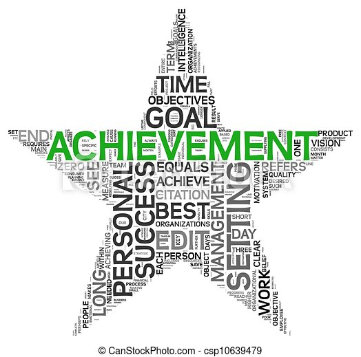Achievement concept in tag cloud - csp10639479