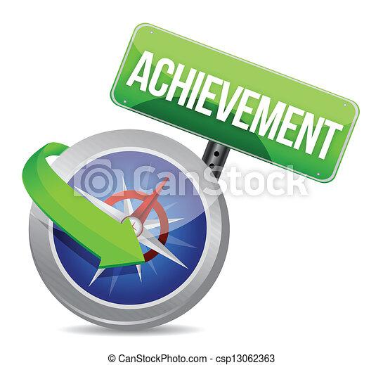 achievement Glossy Compass - csp13062363