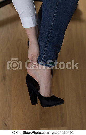 Aching feet - csp24869992