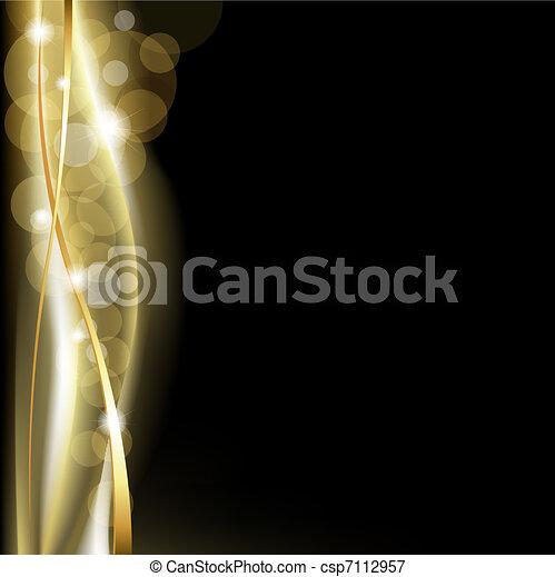 achtergrond, blackand, luxe, goud - csp7112957