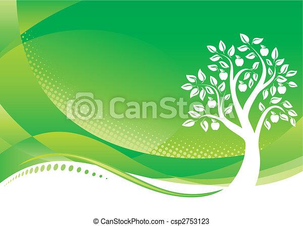 achtergrond, boompje, groene - csp2753123