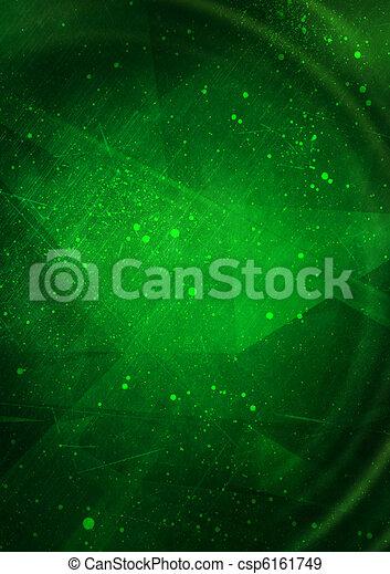 achtergrond, grunge, abstract, groene - csp6161749