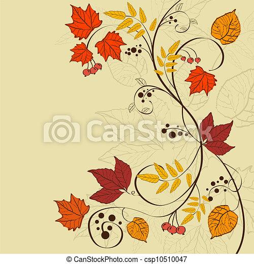 achtergrond, herfst - csp10510047