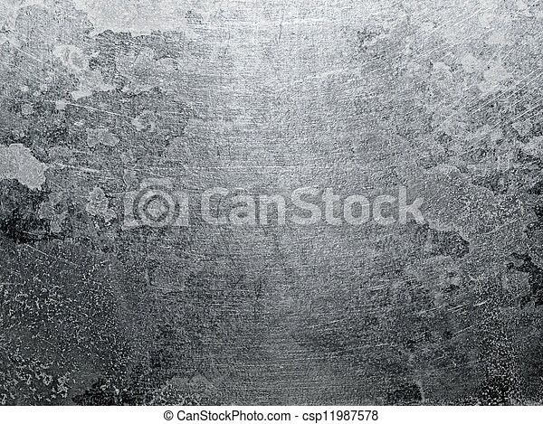 achtergrond., metaal, textuur - csp11987578