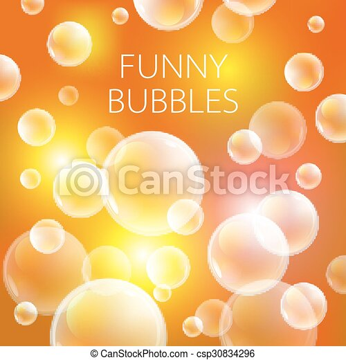 achtergrond., model, abstract, illustratie, zeep, bol, vector, sinaasappel, bellen, bal, transparant, cirkel - csp30834296