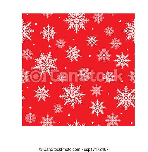achtergrond, seamless, sneeuwvlok - csp17172467