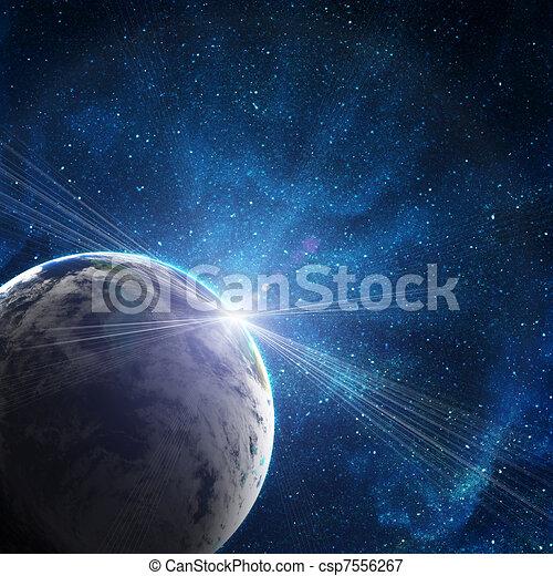 achtergrond, sterretjes, ruimte - csp7556267