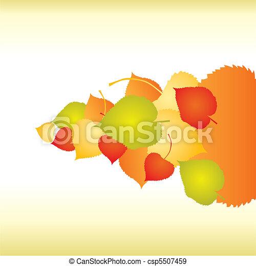 achtergronden, abstract, blad, herfst - csp5507459