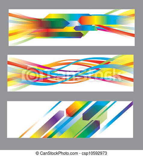 achtergronden, abstract, vector, set - csp10592973