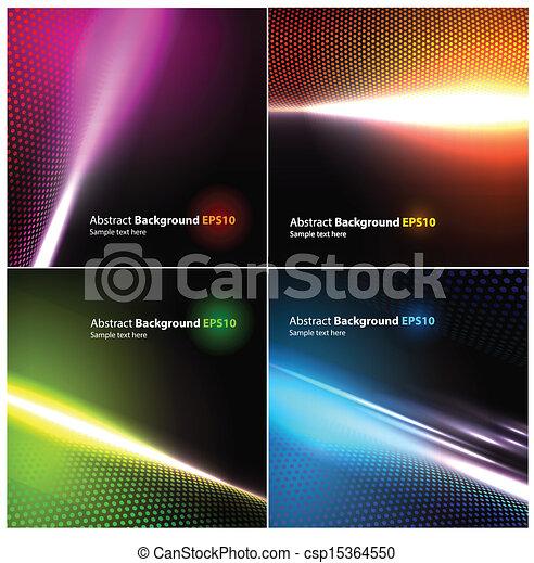 achtergronden, abstract, vector, set - csp15364550