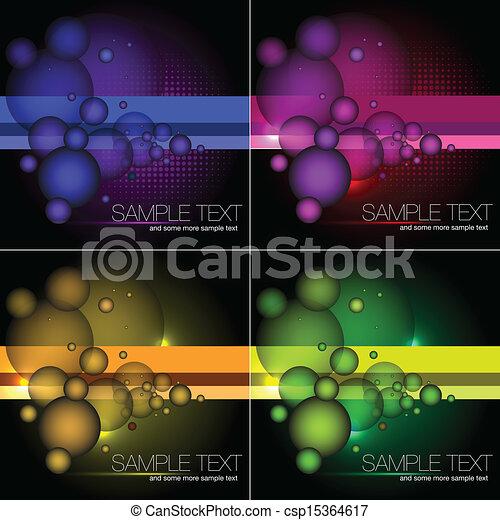 achtergronden, abstract, vector, set - csp15364617