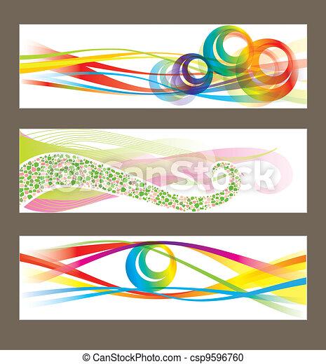 achtergronden, abstract, vector, set - csp9596760