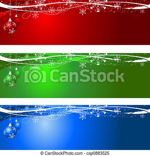 achtergronden, kerstmis - csp0883525