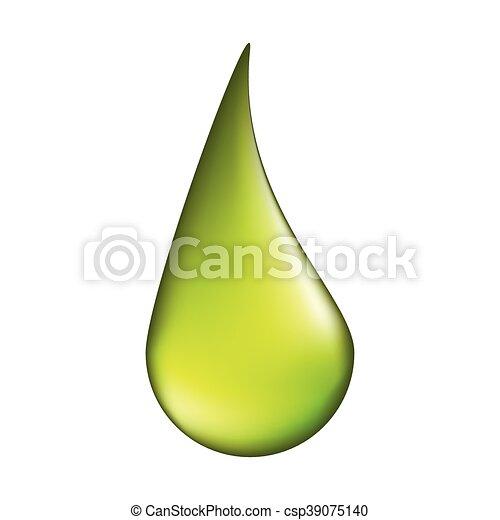 acid drop vector symbol icon design. illustration isolated on white background - csp39075140