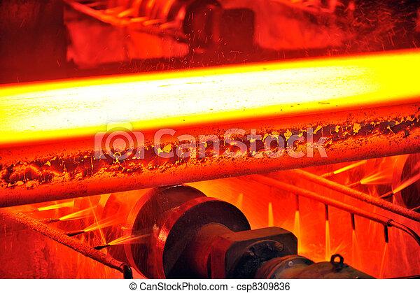 acier, chaud, convoyeur - csp8309836