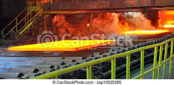 acier, chaud, convoyeur - csp10025385