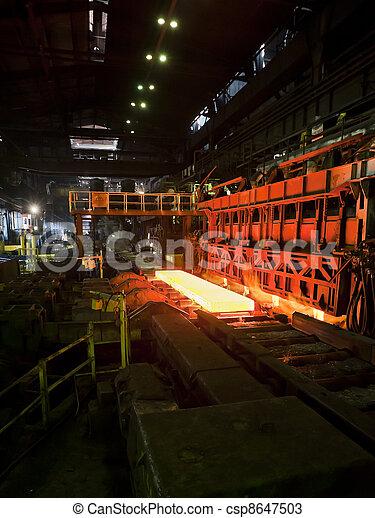 acier, chaud, convoyeur - csp8647503
