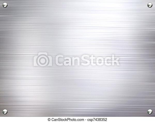 acier, plaque, métal, arrière-plan. - csp7438352