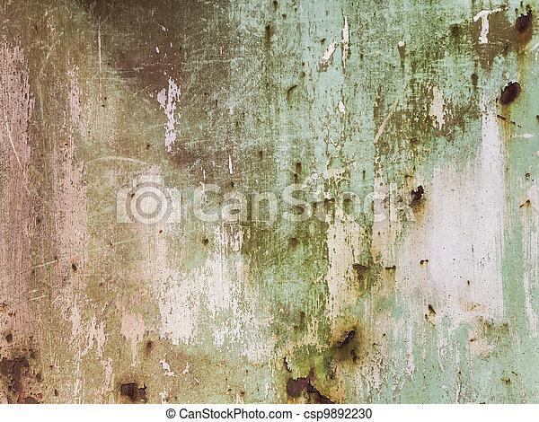 acier, plaque, rouillé - csp9892230