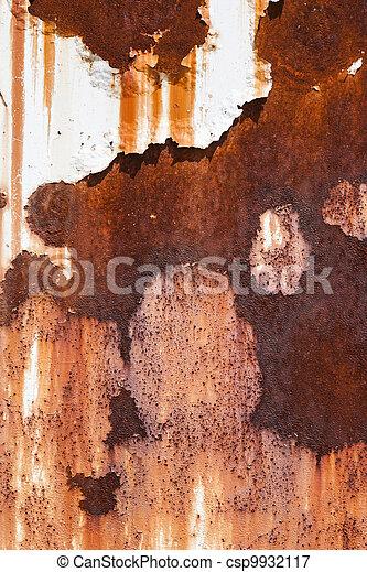 acier, plaque, rouillé - csp9932117