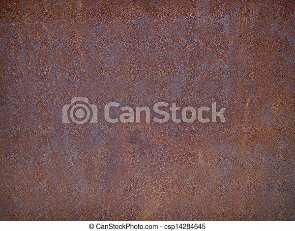 acier, plaque, rouillé - csp14284645